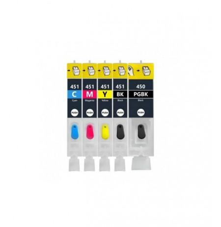 کاتریج و مواد مصرفی کارتریج قابل شارژ جوهرافشانCanon 450-451