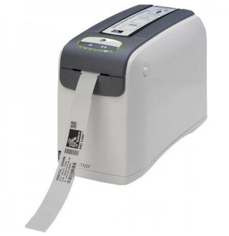 لیبل پرینتر چاپگر رومیزی دستبند بیمارستانی Zebra HC100 300dpi